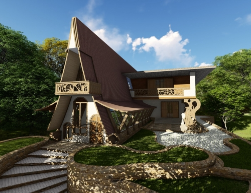 Oak Framed Build CGI – UK