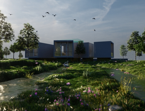 Contemporary Lake House Render – Architectural Visualisation